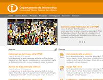 Rediseño Website Departamento de Informática | UTFSM