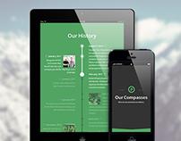 Responsive Parallax Publishing Platform