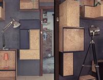 'Tetrisnake' | Furniture Design (Estação Luz Store)