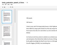 Brad Howard's Graduation Speech on Google Drive