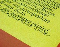cuadro en caligrafia - calligraphy