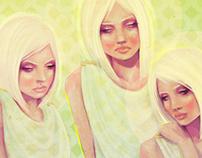 Three Graces Digital Painting