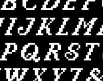 Italic Capitals Bit Font