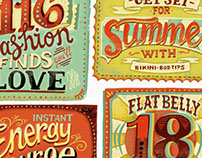 Headlines in Hand-Lettering