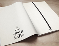 """Mise en page poétique - """"No rain"""""""