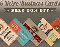6 Retro Business Cards