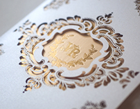 Laser Cut Lace inspired Wedding Invitation