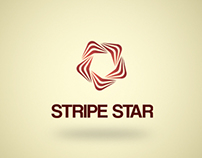 Stripe Star Logo Template
