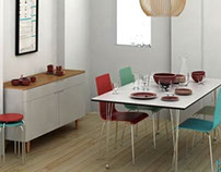 Dining Room Scene - 3D Models for Sale - 3D Squirrel