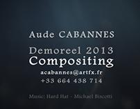 Demoreel Compositing - July 2013