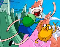 Super Jumping Finn Title Screen Art