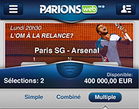 """Parions Web"" UI  ( Ios App)"