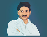 YS Jagan Mohan Reddy Vector