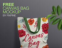 Free Canvas Bag Mockup