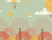 Balloons and trees