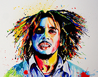 """Bob Marley""_ mixed media canvas"