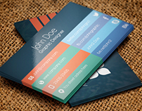 Business card design flat Freebie