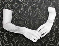 lace cuffs.