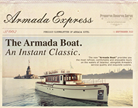 Armada Hotel E.Newsletter Design: Armada Express