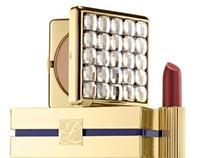 Estee Lauder's 24K Signature Lipstick and Compact
