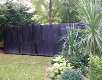 A black box in a yard