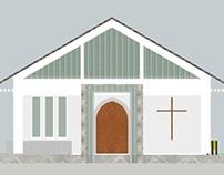 Gereja Sederhana di Kalimantan