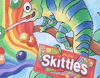Skittles Train ad
