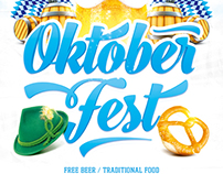 Oktoberfest Festival Poster vol.2, PSD Template