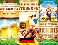 Oktoberfest Festival Poster Bundle, PSD Template