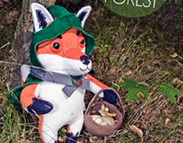 Mr. Fox in the forest