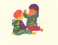 Vivid Colored Children 1