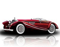 Luxury Vintage Car | Illustrator Design