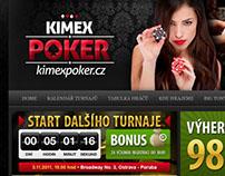 Internetové stránky Kimex Poker