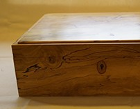 Spalted Holly Writing Case