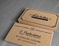 Hand Drawn . Professional Business Card Design