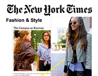 "NYTimes ""The Campus As Runway"""