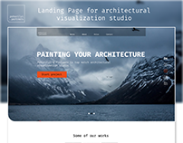 Landing page for architectural visualization studio