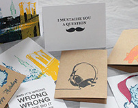Screen Printed Cards and Journals
