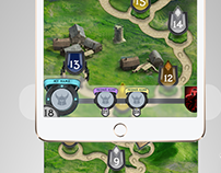 """""""Rival Knights"""" game map. user interface"""