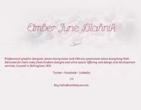 Amber June - Website