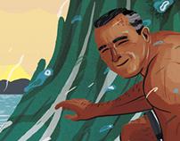 'Waimea's Sweetheart' - Greg Noll Poster