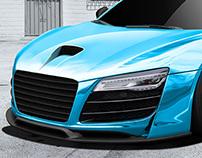 Audi R8 retouch