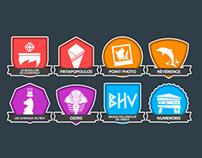 Asterix badges