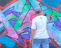 "Flat Fitty ""End Of An Era"" Graffiti Piece And Video"