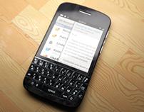 Blackberry concept 3D model + render