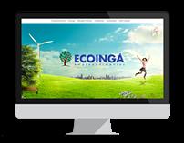 Layout Site ECOINGA Empreendimentos