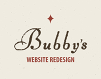 Bubby's Website Redesign