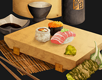 Sushi Box / Illustration & Branding