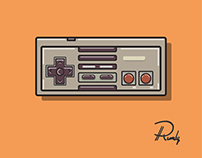 Nintendo Joy Stick Console Vector Illustration