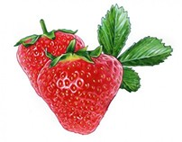 Strawberries for Arla yoghurt